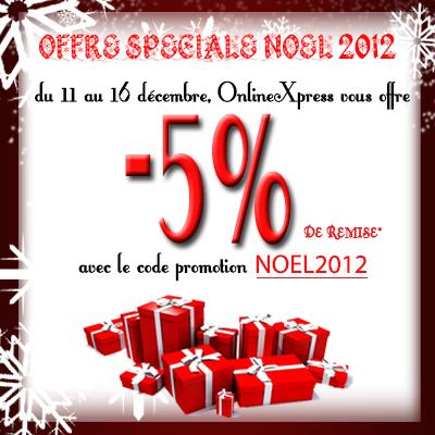 code promo : noel2012